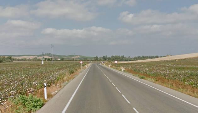 Carretera en la que ha tenido lugar el accidente.