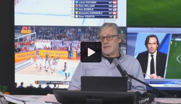 El periodista Javier Ares, durante el programa.