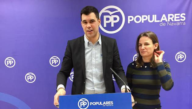 El parlamentario foral del PPN Javier García.
