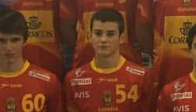El jugador navarro Ander Izquierdo Labayen.