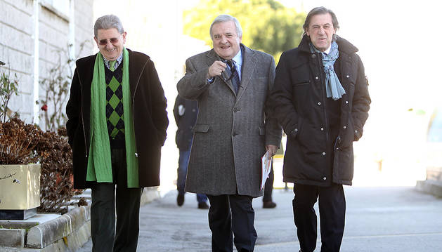 Los expresidentes de Osasuna Patxi Izco y Miguel Archanco.
