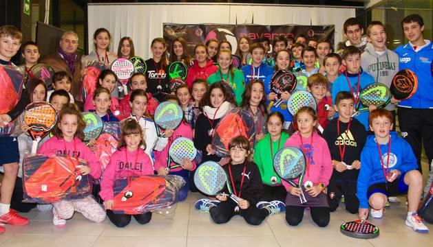 Cuadro de campeones de la 1ª Prueba del Circuito Navarro de Menores.
