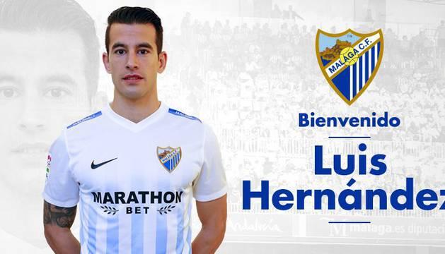 El club malagueño da la bienvenida a Luis Hernández.