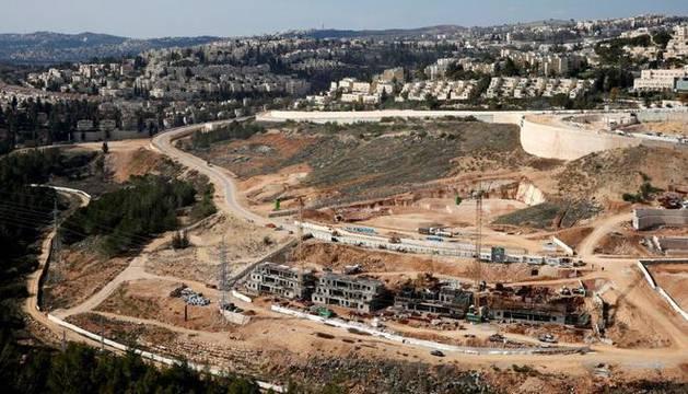 Imagen de la colonia israelí de Ramot, Cisjordania.