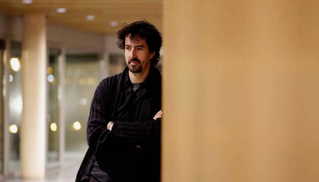 Foto de Félix Viscarret, ayer en el Museo Universidad de Navarra.