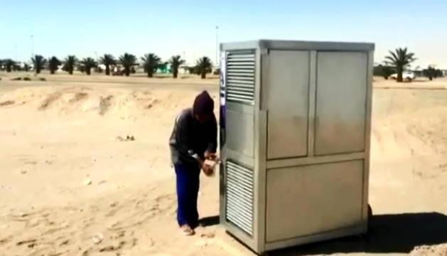 El aparato recoge gran cantidad de aire yextraelas gotas al condensar las partículas.