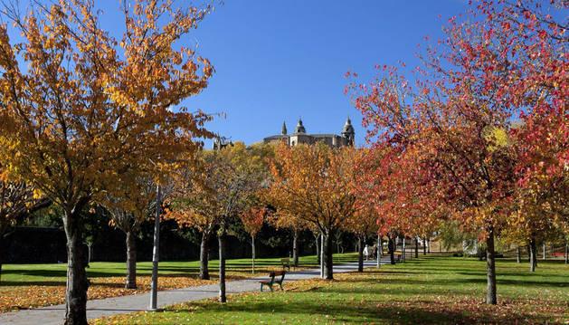 Imagen del parque de Irubide, que formará parte del parque Sur de la Chantrea.
