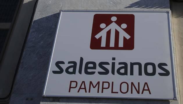 El edificio de Salesianos en Pamplona.