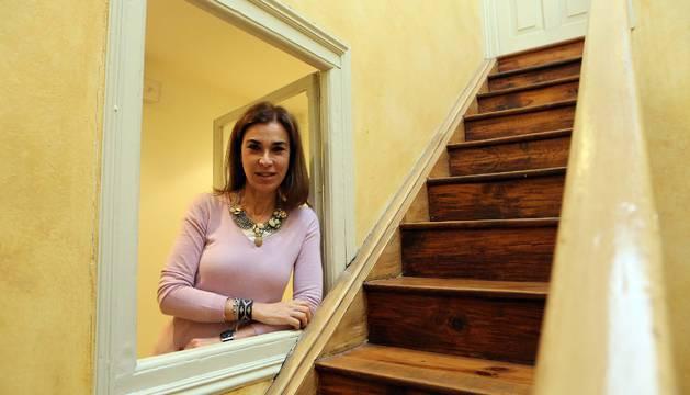 Carmen Posadas en el club de lectura de Diario de Navarra en 2013