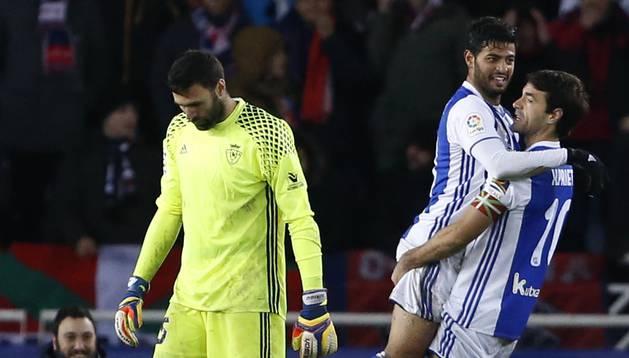 Imágenes del encuentro disputado en Anoeta entre la Real Sociedad y Osasuna