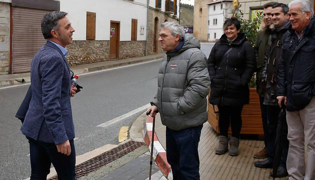 Llegada a los Juzgados de Aoiz de Alfonso Etxeberria, alcalde de Egüés por Geroa Bai.