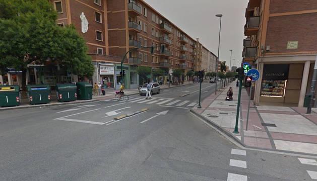 Foto de la AvenidaMarcelo Celayeta de Pamplona.