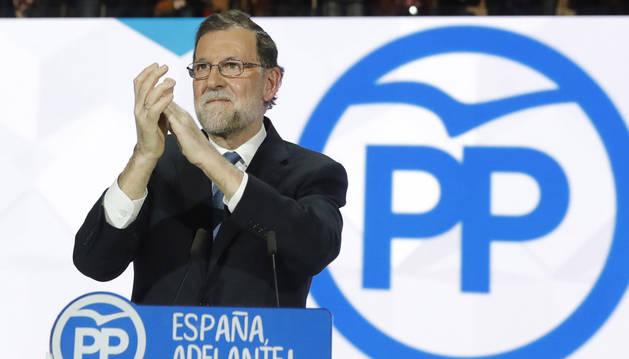 Mariano Rajoy, durante su intervención en el XVIII Congreso del PP.