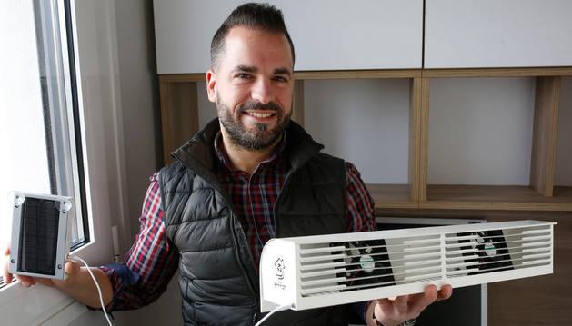Javier Barricarte Rivas es el creador de la empresa y el dispositivo Effifan.