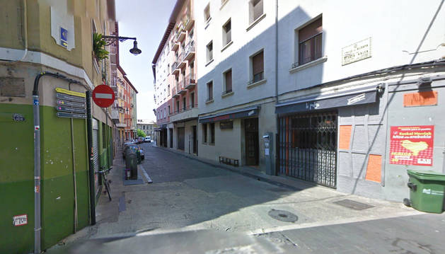 La calle Aldapa de Pamplona.