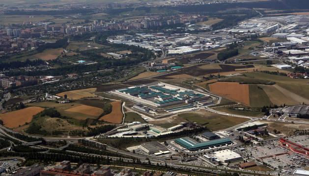 Imagen de la vista aérea de la cárcel de Pamplona.
