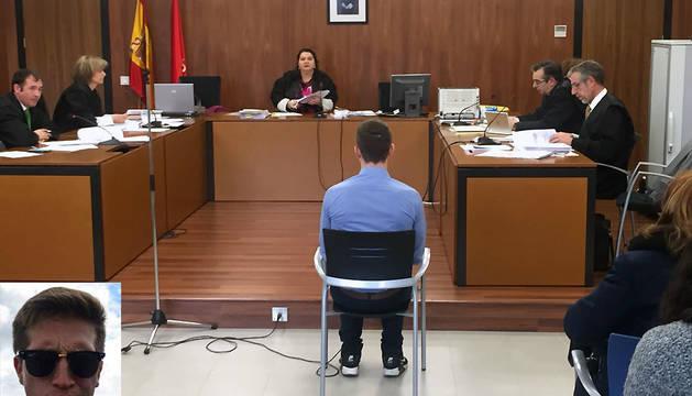 El acusado, durante el juicio que ha comenzado este jueves en Pamplona. En la imagen inferior, Emilio Rekalde.