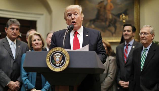 Foto del presidente de Estados Unidos, Donald Trump.