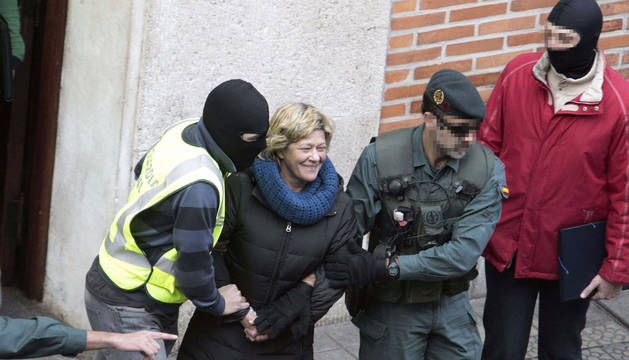 La abogada de ETA Arantza Zulueta, detenida en 2014.