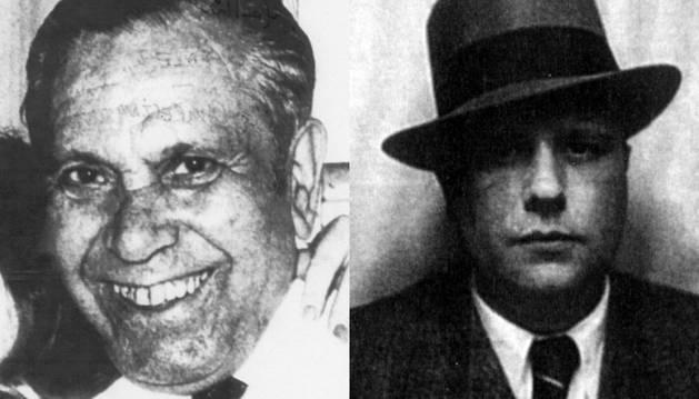 De izda. a dcha., Valentín González y Jesús Monzón Repáraz.