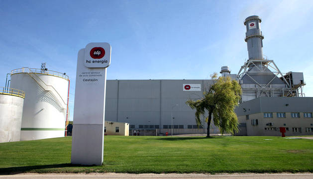 Foto de la Central Térmica de Hidrocantábrico, en Castejón...