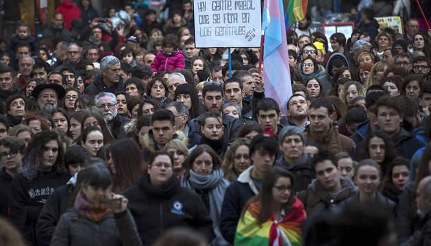 Cientos de personas rechazan en Pamplona la transfobia