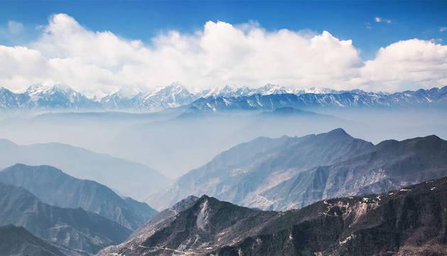 foto de vista de los Pirineos