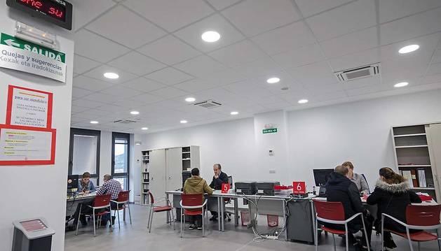 Imagen de la oficina del Servicio navarro de Empleo en Estella.