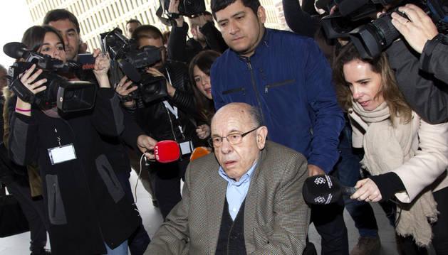 El expresidente del Palau de la Música Félix Millet a su llegada al juicio.