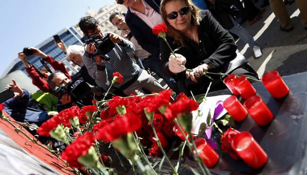 Foto de la expresidenta de la Asociación 11M Víctimas del Terrorismo, Pilar Manjón, madre del joven Daniel, uno de los fallecidos en el atentado.