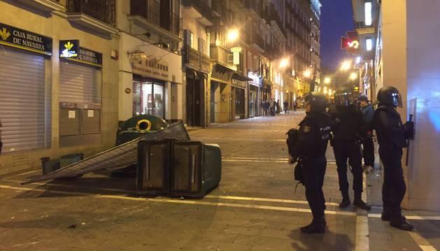 Incidentes en Pamplona tras una concentración contra la represión