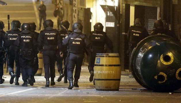 Incidentes en el Casco Antiguo de Pamplona este sábado tras una concentración contra la represión