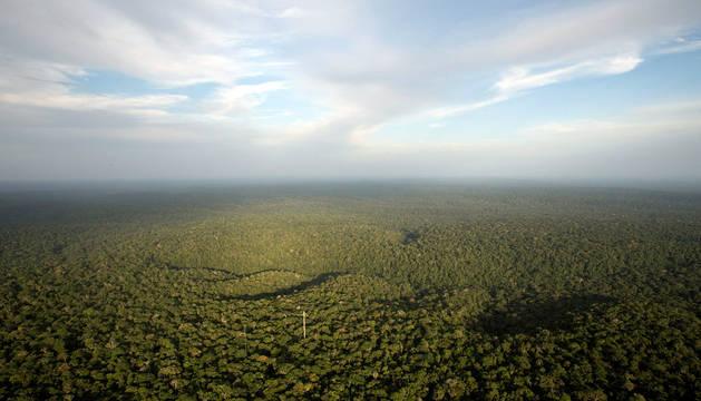 Vista del Amazonas desde Sao Sebastiao do Uatuma (Brasil).
