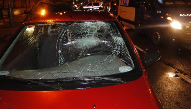 Foto del estado del vehículo tras el accidente.