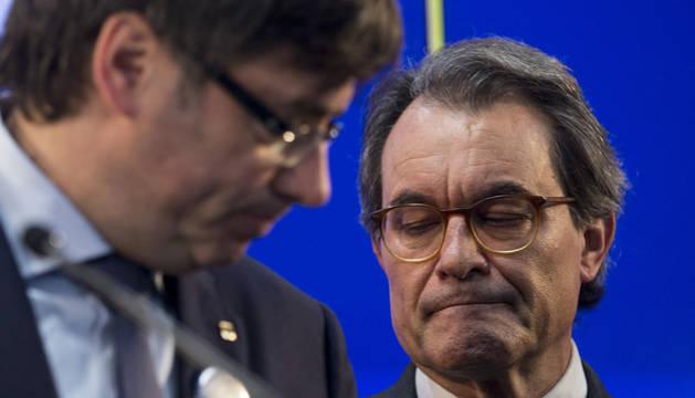 Puigdemont y Artur Mas.