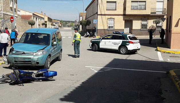 Un menor, herido muy grave en un accidente de tráfico con su motocicleta en Cabanillas