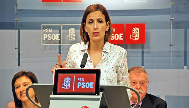 María Chivite, en el Comité Regional del PSN.