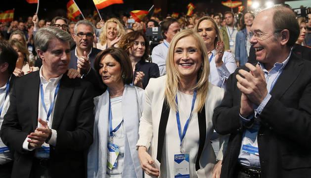 Cristina Cifuentes, tras ser elegida presidenta del PP de Madrid.