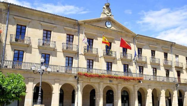 Imagen del ayuntamiento de Tafalla.