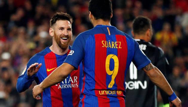 Messi y Luis Suárez.