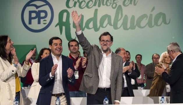 Rajoy, en el cierre del congreso del PP de Andalucía.