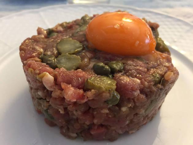 Imagen de un steak tartar