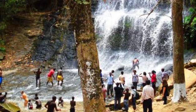 Imagen de las cataratas de Kintampo en Ghana.