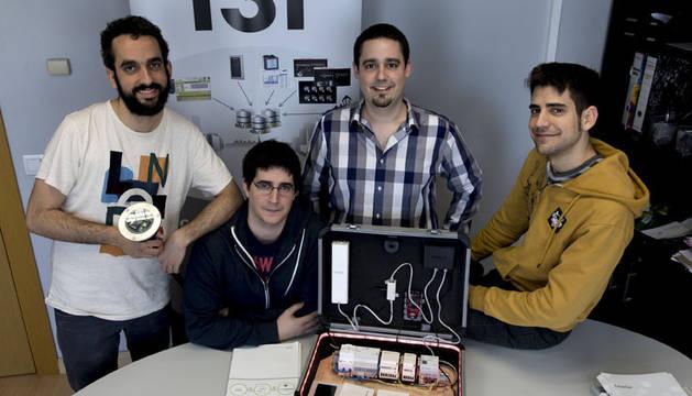 De izquierda a derecha, Natxo Etxeberria Sánchez, Iradier Aguirre Garzón, Alejandro Díaz Chamorro y Adrián García Sanjuanes.