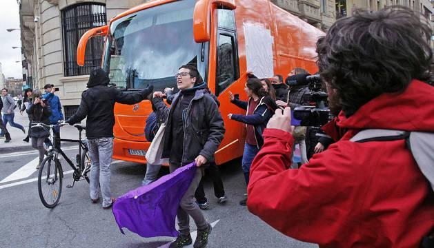 El autobús de HazteOir llega a Pamplona
