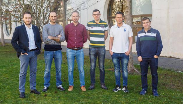 foto de Ramón Gonzalo, Íñigo Ederra, Juan Carlos Iriarte, Cebrián García, Carlos Quemada y Jorge Teniente.