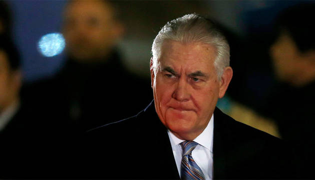 El secretario de Estado de EEUU a su llegada a Japón