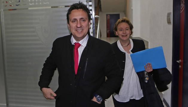 Lafón junto a Eva Blanco durante su etapa como directivos de Osasuna