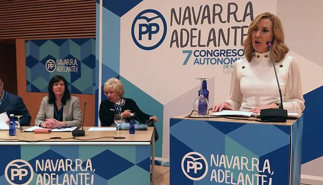 Ana Beltrán en el VII Congreso Autonómico del PPN
