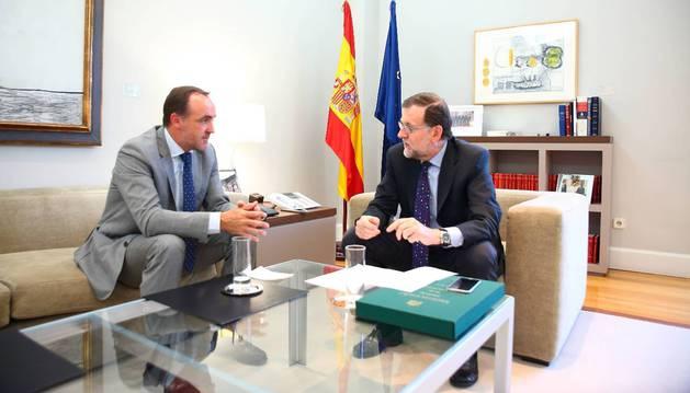 Foto de Esparza y Rajoy, en una reunión en Moncloa, el pasado 22 de julio.